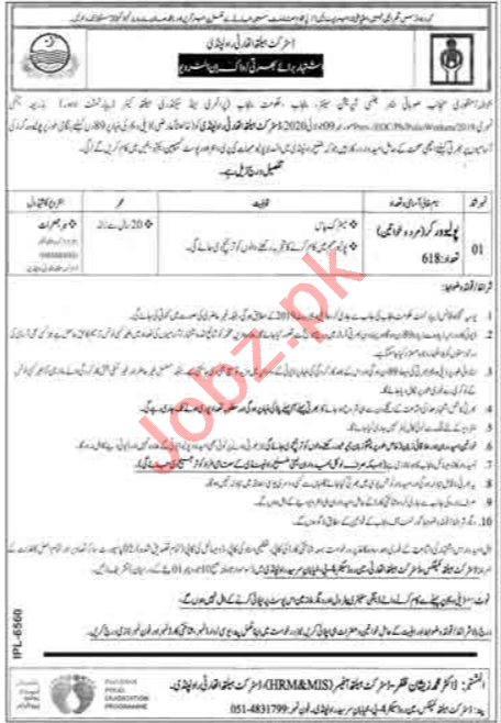 Polio Worker Jobs in District Health Authority Rawalpindi