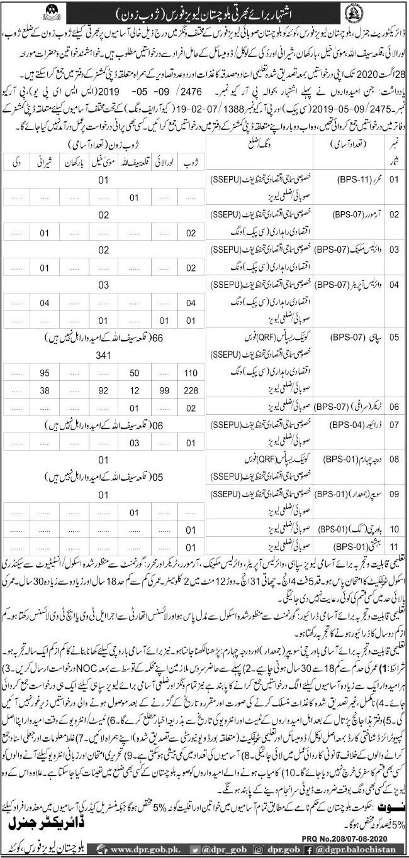 Balochistan Levies Force Jobs 2020 in Zhob Zone