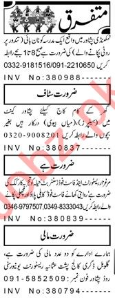 Aaj Sunday Classified Ads 9 Aug 2020 for Multiple Staff