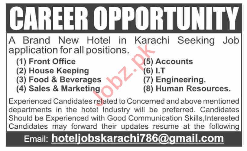 Accounts Officer & Housekeeping Staff Jobs 2020 in Karachi