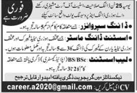 Dying Supervisor and Lab Assistant Jobs 2020 in Karachi