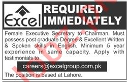 Female Executive Secretary Jobs 2020 in Excel Group