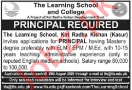 The Learning School & College Kot Radha Kishan Jobs 2020