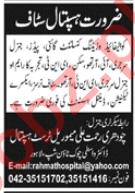 Chaudhry Rehmat Ali Trust Hospital Lahore Jobs 2020