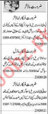 Dunya Sunday Classified Ads 23 Aug 2020 for Actor & Model