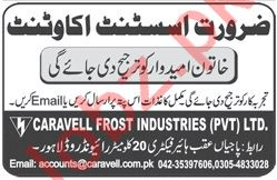 Assistant Accountant Jobs in Caravell Frost Industries
