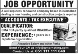 Q Marketing Company Jobs 2020 in Islamabad
