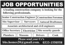 Construction Company Jobs 2020 in Rawalpindi