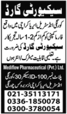 Mediflow Pharmaceuticals Jobs 2020 For Security Guard