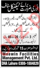 Moawin Facilities Management Lahore Jobs Technical Staff