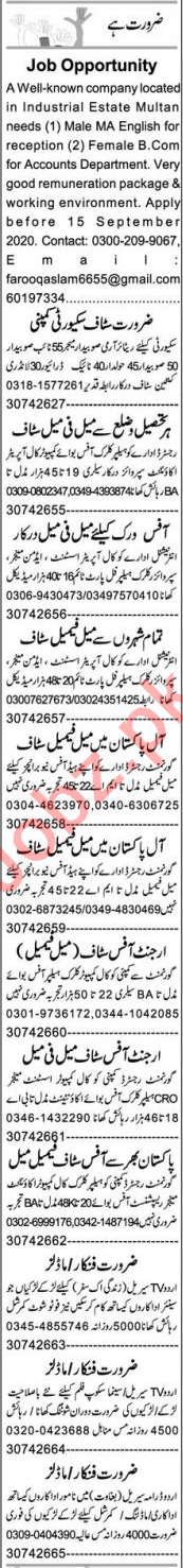 Personal Secretary & Recovery Officer Jobs 2020
