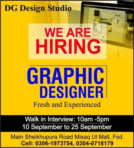 DG Design Studio Walk In Interviews