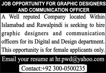 Graphic Designers & Communication Officer Jobs 2020