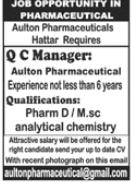 Aulton Pharmaceuticals Jobs 2020