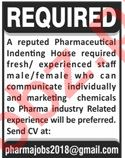 Sales & Marketing Staff Jobs 2020 in Pharmaceutical Company