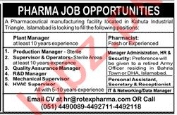 Plant Manager & Production Manager Jobs 2020