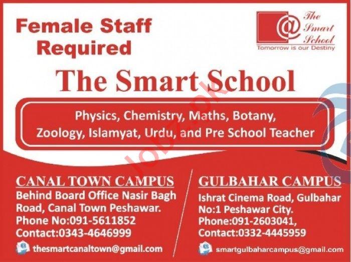 The Smart School Peshawar Job 2020 for Female Teachers