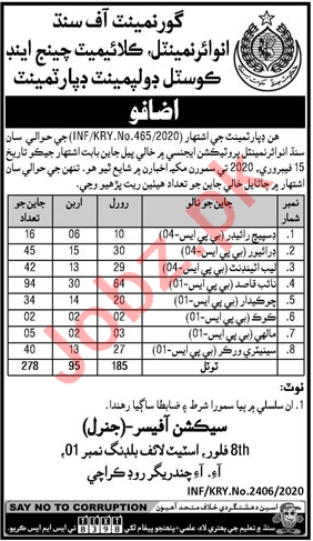 Environment Climate Change Sindh Jobs for Dispatch Rider