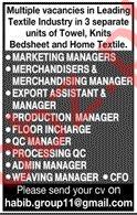 Export Assistant & Floor Incharge Jobs 2020 in Karachi