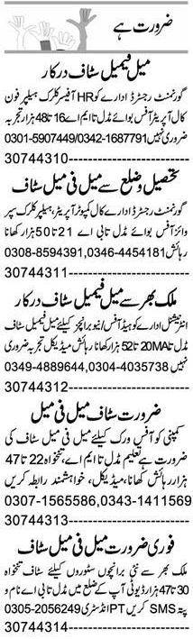 Daily Express Newspaper Classified Jobs 2020 in Peshawar