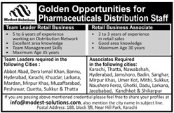 Pharmaceuticals Distribution Staff Jobs 2020