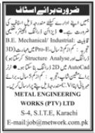 Metal Engineering Works Jobs 2020 in Karachi