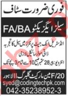 Sales Executive Jobs 2020 in Coding Technologies Lahore