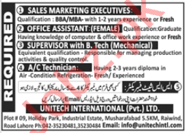 Sales Marketing Executive & Office Assistant Jobs 2020