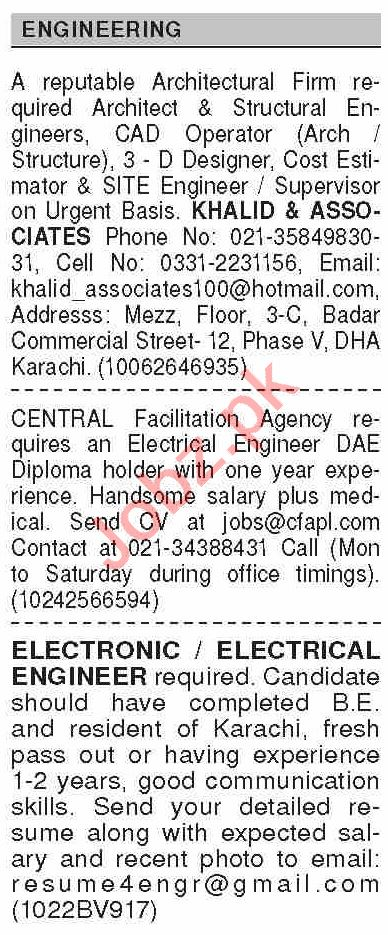 Dawn Sunday Classified Ads 27 Sept 2020 for Engineering