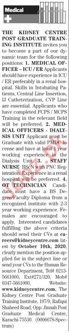 The News Sunday Classified Ads 27 Sept 2020 for Medical