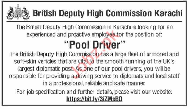 British Deputy High Commission Karachi Jobs 2020