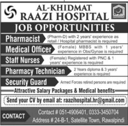 Al-Khidmat Raazi Hospital Jobs 2020 in Rawalpindi
