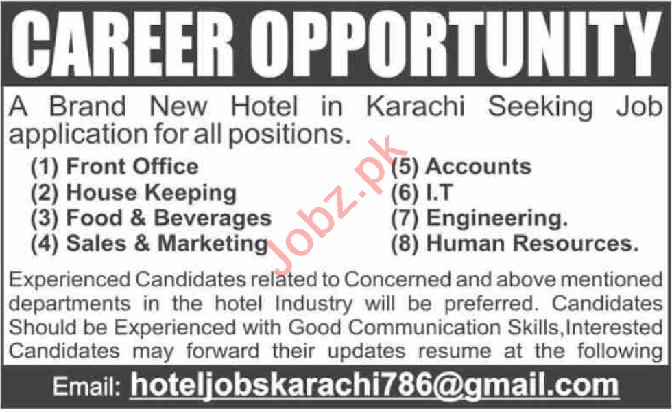 Accounts Officer & House Keeping Staff Jobs 2020