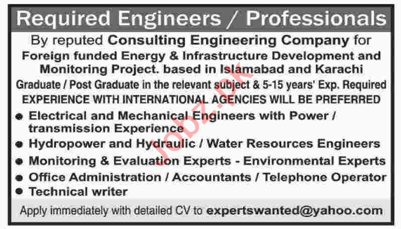 Mechanical Engineer & Water Resources Engineer Jobs 2020
