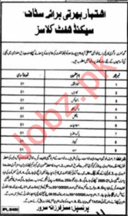 Government Degree College for Women Mustafabad Jobs 2020