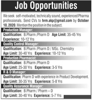 Pharmaceutical Company Jobs 2020 in Islamabad