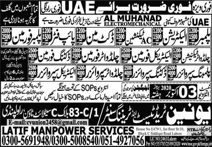 Al Muhanad Electro Mechanical Contracting LLC Jobs 2020
