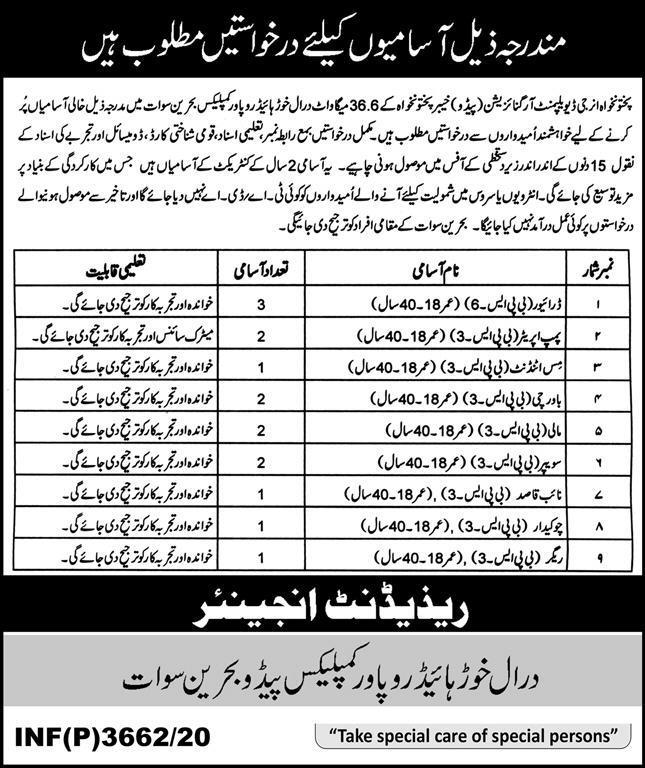 Khyber Pakhtunkhwa Energy Development Organization Jobs 2020