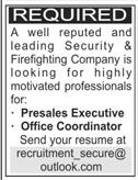 Presales Executive & Office Coordinator Jobs 2020 in Karachi
