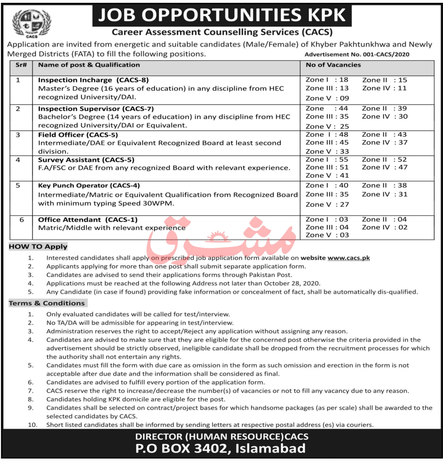 Career Assessment Counselling Services CACS Jobs 2020