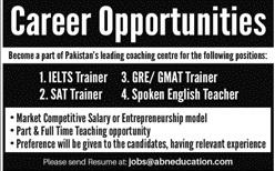 Coaching Center Jobs 2020 in Karachi