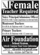 Air Foundation School System Jobs 2020 For Teaching Staff