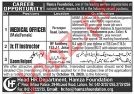 Hamza Foundation Lahore Jobs 2020 for Medical Officers