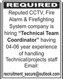 Technical Team Coordinator Job 2020 in Karachi