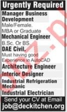 DE Kitchen Lahore Jobs 2020 for Mechanical Engineer