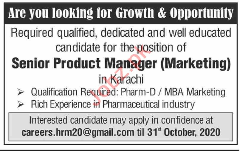 Senior Product Manager & Marketing Manager Jobs 2020