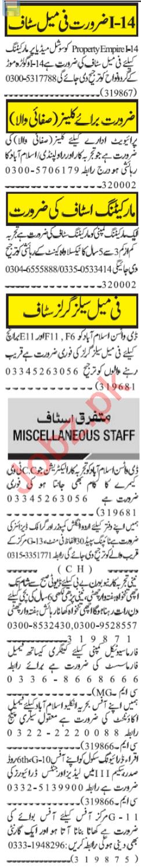 Salesgirl & Graphic Designer Jobs 2020 in Islamabad