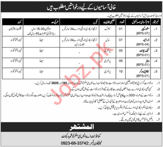 Army Service Corps ASC Nowshera Cantt Jobs 2020