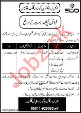 SCO Gilgit Jobs 2020 for Female Call Center Agent
