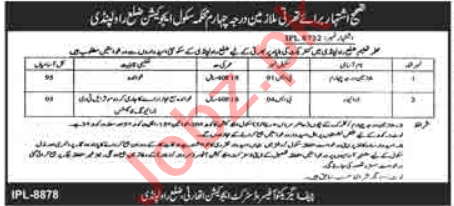 Special Education Department Rawalpindi Jobs 2020 for Mali